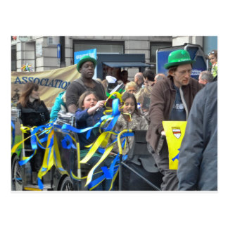 A Float in the St Patrick's Day Parade, London Postcard