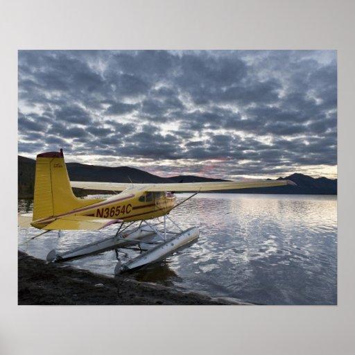 A floatplane in scenic Takahula Lake 2 Print