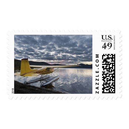 A floatplane in scenic Takahula Lake 2 Stamp