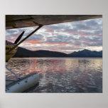A floatplane in scenic Takahula Lake Poster