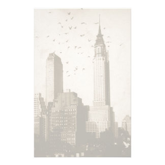 A flock of birds flying personalized stationery