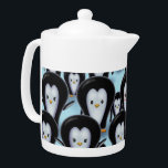 "A Flock of Penquins Teapot<br><div class=""desc"">© Molly Harrison www.mollyharrisonart.com</div>"