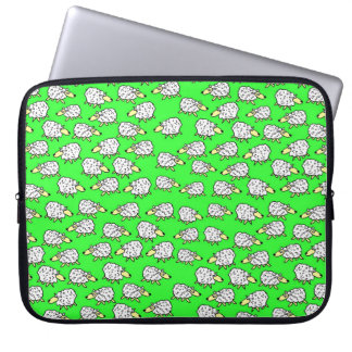 A Flock of Sheep in a Field Laptop Sleeve