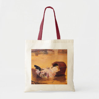 A Flood - with baby and cat by Millais Tote Bag