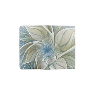 A Floral Dream Pattern Abstract Fractal Art Pocket Moleskine Notebook