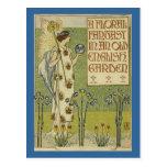 A Floral Fantasy Postcard