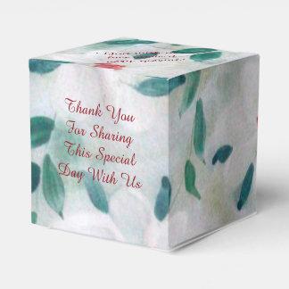 A floral print gift box favor