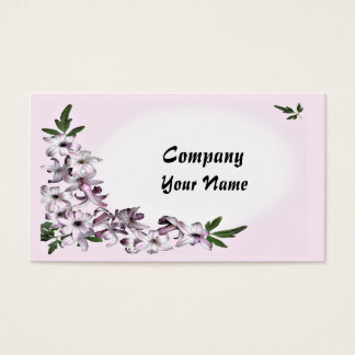 A floral ready to customize business card