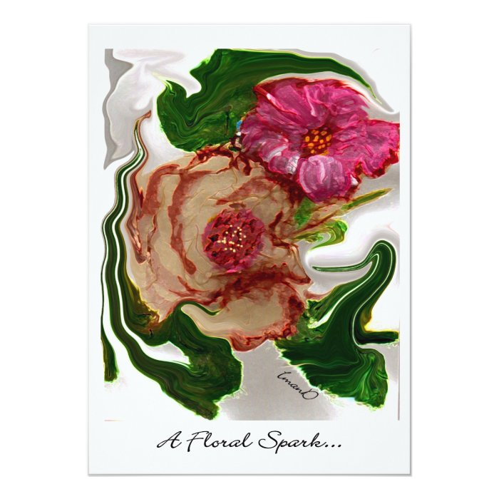 A Floral Spark...   invitation