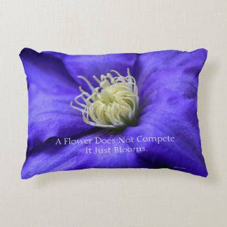A Flower Does Not Compete Quote Accent Pillow