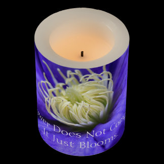 A Flower Does Not Compete Quote Custom Flameless Candle