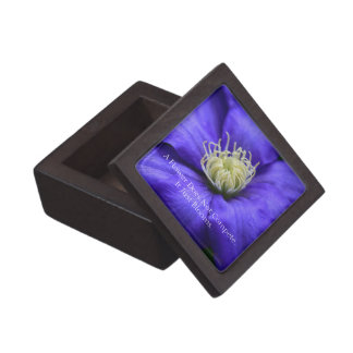 A Flower Does Not Compete Quote Keepsake Box