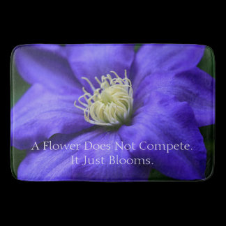A Flower Does Not Compete Quote Kitchen Mat /