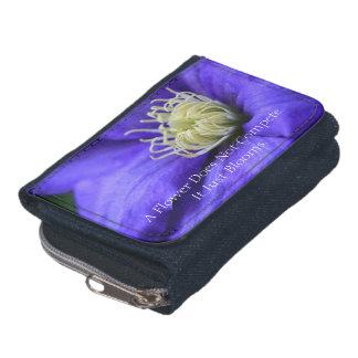 A Flower Does Not Compete Quote Personalized Wallets