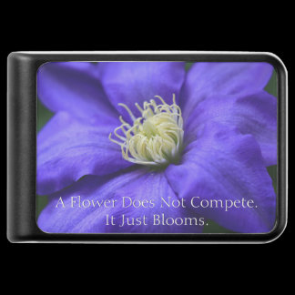 A Flower Does Not Compete Quote Power Bank