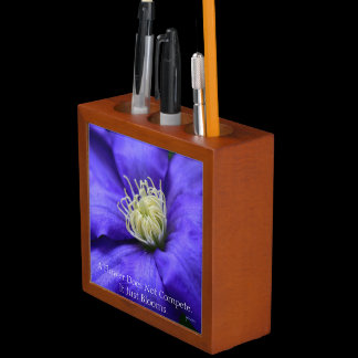 A Flower Does Not Compete Quote Purple Pencil Cup Pencil/Pen Holder