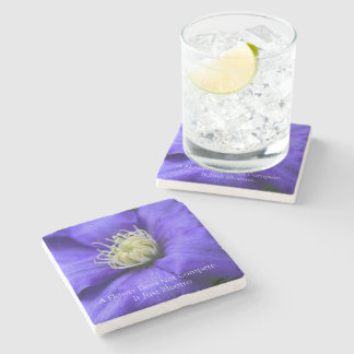 A Flower Does Not Compete Quote Stone Coaster