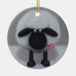 A Flower For Ewe Ceramic Ornament