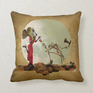 A flower for m'lady throw pillow