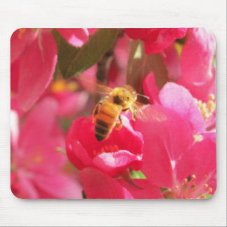 """A flower for my """"Honey"""" Bee Mine Mouse Pad"""