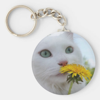 A Flower for You! Basic Round Button Keychain