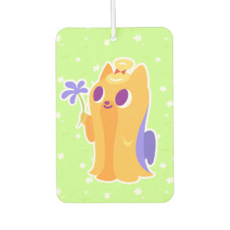 """""""A Flower For You"""" Long-haired Kawaii Yorkie Air Freshener"""