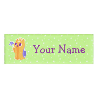 """""""A Flower For You"""" Long-haired Kawaii Yorkie Name Tag"""