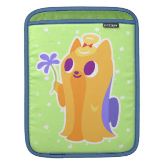"""A Flower For You"" Long-haired Kawaii Yorkie Sleeve For iPads"