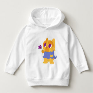 """A Flower For You"" Short-haired Kawaii Yorkie Hoodie"
