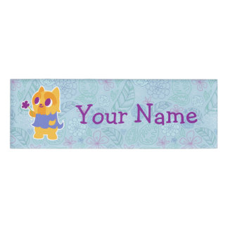 """""""A Flower For You"""" Short-haired Kawaii Yorkie Name Tag"""