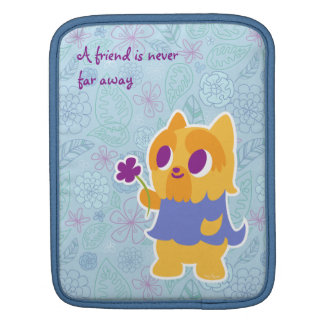 """A Flower For You"" Short-haired Yorkie Kawaii Dog iPad Sleeve"