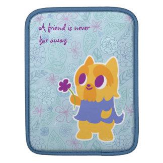 """A Flower For You"" Short-haired Yorkie Kawaii Dog iPad Sleeve"