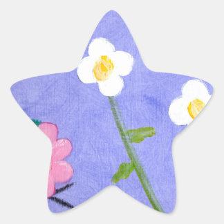 A flower garden star sticker