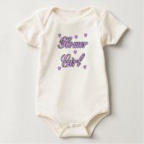 A Flower Girl Wedding Hearts Baby Bodysuit