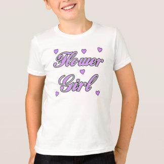 A Flower Girl Wedding Hearts T-Shirt