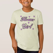 A Flower Girl Wedding Hearts T-Shirt