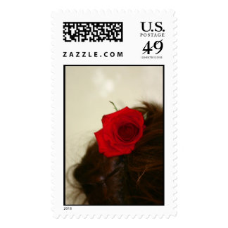 A Flower in Her Hair Postage