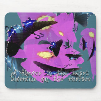 A Flower in the Heart Mousepad
