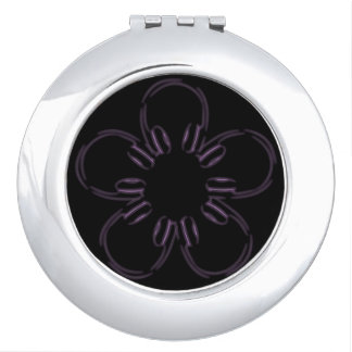 A flower of headphones makeup mirror