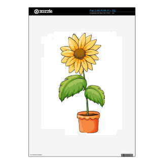A flower plant in a pot decals for the iPad 2