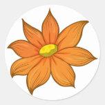 A flower round sticker