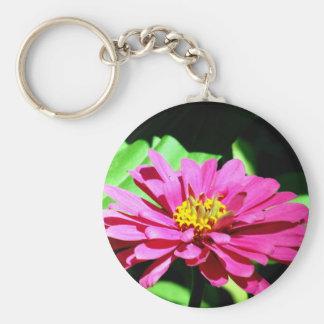 A Flower To Brighten Your Day Basic Round Button Keychain