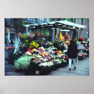 A Flower vendor, Cannes, France Poster