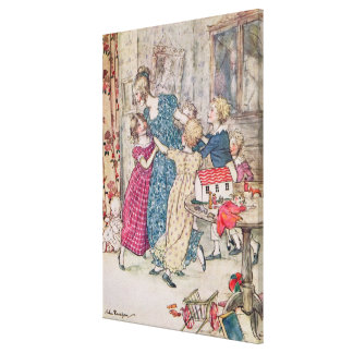 A flushed and boisterous group' canvas prints