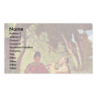 A Flute Concert By Spitzweg Carl Business Card Template