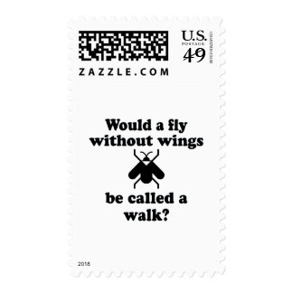 A Fly Without Wings Postage Stamp
