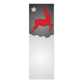 A Flying Red Reindeer Mini Business Card