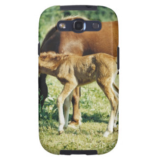 A foal and a horse in a pasture. samsung galaxy SIII cover