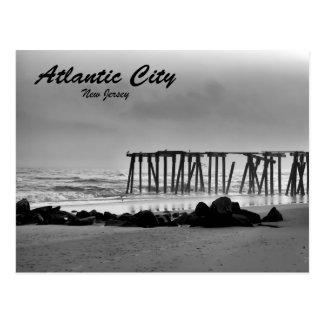 A Foggy Day in Atlantic City Postcard