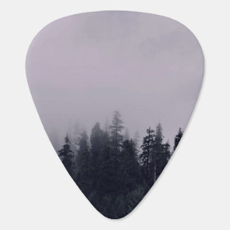 A foggy day in the forest guitar pick